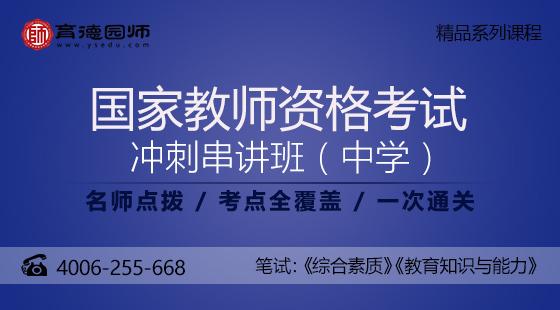 2017国家教师资格证-冲刺串讲班(中学)-育德园师