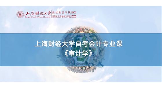上海財經大學自考會計專業課《審計學》