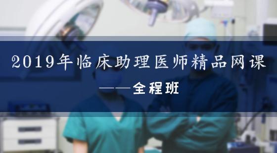 2019年臨床執業助理醫師精品網課——全程班