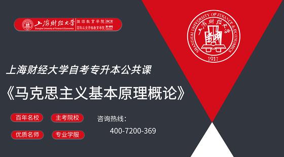 上海財經大學自考公共課《馬克思主義基本原理概論》